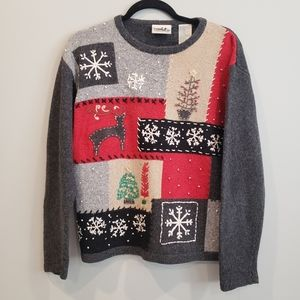 Northern Reflections M Wool blend Xmas sweater